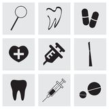 Vector dental  icons set Royalty Free Stock Images