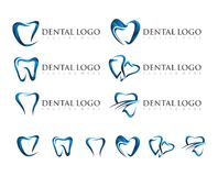 VECTOR : DENTAL LOGO DESIGN Stock Image