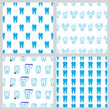 Vector dental seamless pattern Royalty Free Stock Photo
