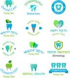 Vector dental stomatology clinic badge icon. Stock Images