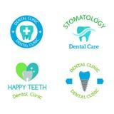 Vector dental stomatology clinic badge icon. Royalty Free Stock Photography
