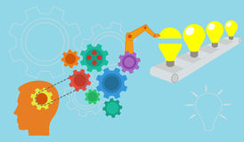 Vector depicting the conceptualization of new ideas Royalty Free Stock Image