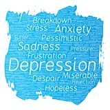 Vector depression mental emotional disorder problem Royalty Free Stock Image