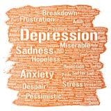 Vector depression mental emotional disorder problem Royalty Free Stock Images