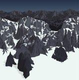 Vector der Alpengebirgshintergrund-Beschaffenheit Nepals Himalaja nahtloses Muster lizenzfreie abbildung