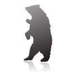 Vector derecho de la silueta del oso Imagenes de archivo