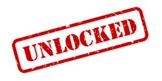 Vector desbloqueado del sello de goma imagen de archivo libre de regalías