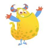 Vector desenhos animados de um monstro gordo e macio alaranjado de Dia das Bruxas ilustração royalty free