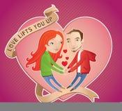 O amor levanta-o acima Fotografia de Stock Royalty Free