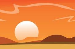 Vector Desert Background Royalty Free Stock Image