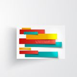 Vector  design. Abstract lines brochure card Stock Images