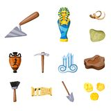 Isolated object of archaeology  and historical icon. Collection of archaeology  and excavation vector icon for stock. Vector design of archaeology  and stock illustration