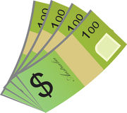 Vector design of Australian Currency Royalty Free Stock Photography