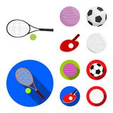 Isolated object of ball and soccer logo. Collection of ball and basketball vector icon for stock. Vector design of ball and soccer icon. Set of ball and vector illustration