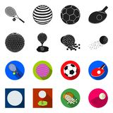 Vector design of ball and soccer sign. Set of ball and basketball stock symbol for web. Vector illustration of ball and soccer logo. Collection of ball and vector illustration