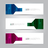 Vector design Banner background. Royalty Free Stock Images