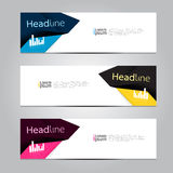 Vector design Banner background. Royalty Free Stock Photos