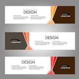 Vector design Banner background. illustration EPS10 Royalty Free Stock Photography