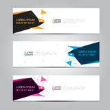 Vector design Banner backgrounds. Vector design Banner backgrounds in three different colors Royalty Free Stock Image