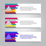 Vector design Banner backgrounds in three different colors.  vector illustration