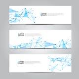 Vector design Banner network technology medical background. Stock Images