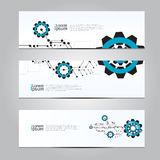 Vector design Banner network technology medical background. Stock Image