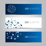 Vector design Banner network technology medical background. Stock Photos