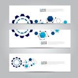 Vector design Banner network technology medical background. Royalty Free Stock Image