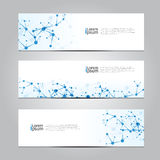 Vector design Banner network technology medical background. Royalty Free Stock Images