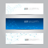 Vector design Banner network technology medical background. Royalty Free Stock Photos