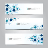 Vector design Banner network technology medical background. Royalty Free Stock Image