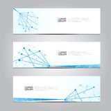 Vector design Banner network technology medical background. Royalty Free Stock Photography