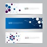 Vector design Banner network technology medical background. Stock Photos