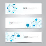 Vector design Banner network technology medical background. Stock Photography