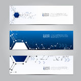 Vector design Banner technology background. Royalty Free Stock Photo