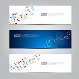 Vector design Banner technology background. Stock Photography