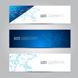 Vector design Banner technology background. Stock Images