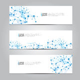 Vector design Banner technology background. Royalty Free Stock Photography