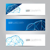 Vector design Banner technology background. Stock Image