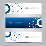 Vector design Banner technology background. Royalty Free Stock Image