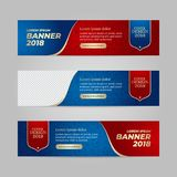 Vector design banner web template. For sport event, 2018 trend royalty free illustration