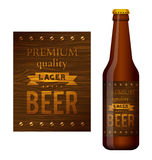 Vector design of beer label Stock Photography