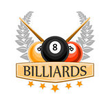 Vector Design Billiards, pool and snooker sport icon Stock Photography
