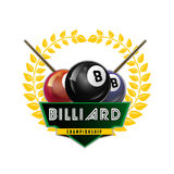 Vector Design Billiards, pool and snooker sport icon Stock Image