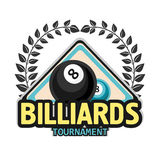 Vector Design Billiards, pool and snooker sport icon Stock Photo