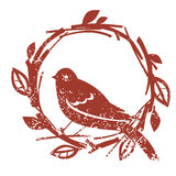Vector design with bird and nest Stock Images