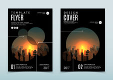 Vector design of black flyer template stock illustration