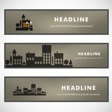 Vector design of black silhouette cityscape eps Stock Photography
