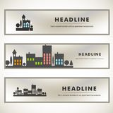 Vector design of black silhouette cityscape eps Royalty Free Stock Images