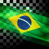 Vector design of Brazilian flag Royalty Free Stock Photography
